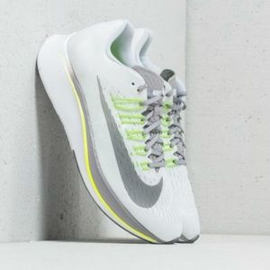 Nike zoom fly women's white grey shoes